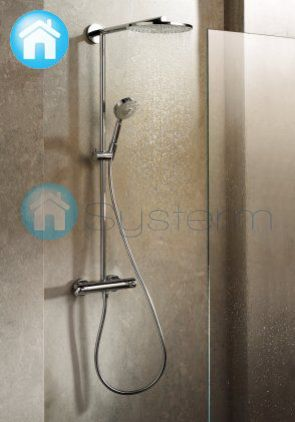 Hansgrohe croma 220 1jet showerpipe shower set 27185 000 for Grohe o hansgrohe diferencias